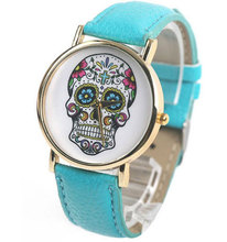 Cool Skull Skeleton Wrist Watch 8 colors china post air mail(China (Mainland))