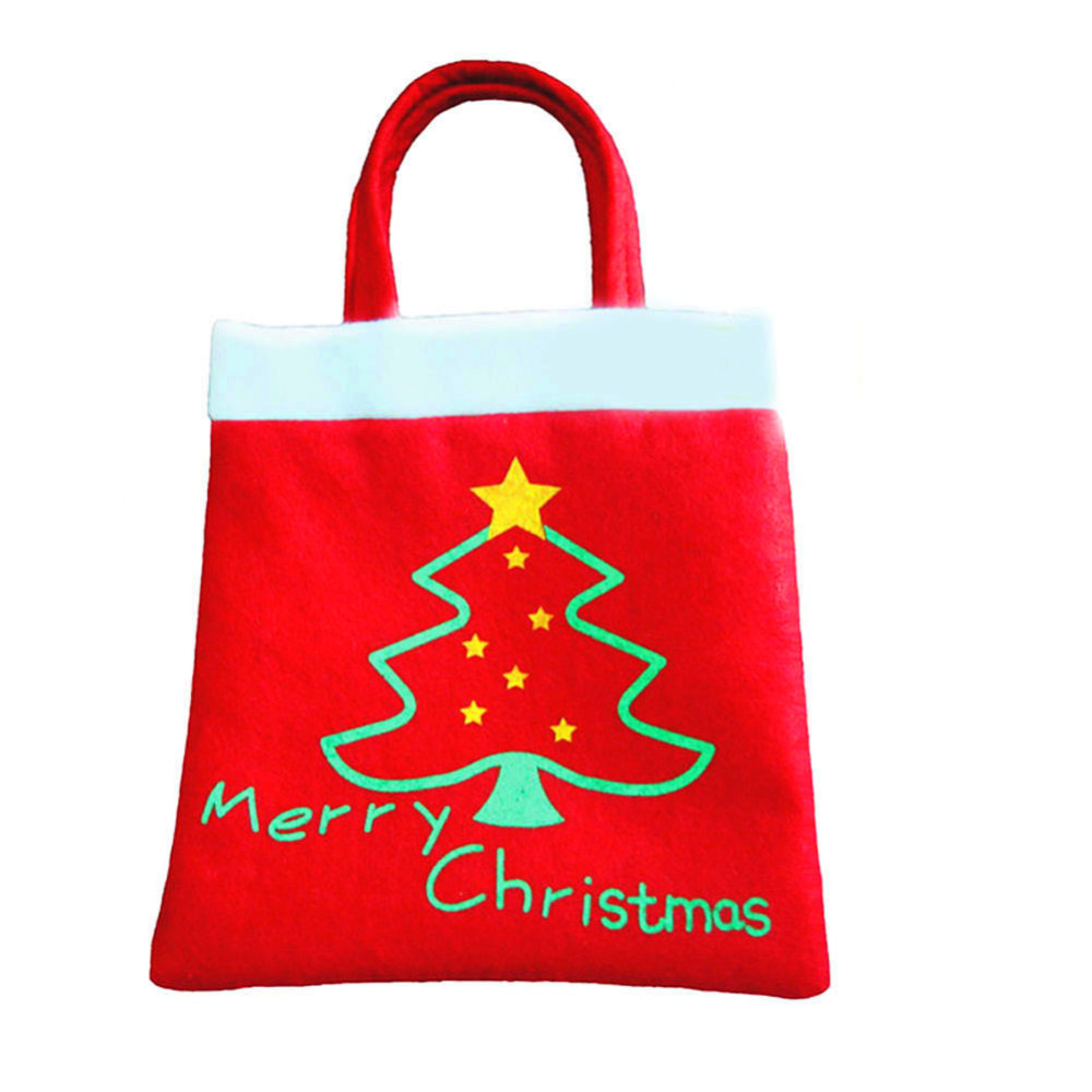 New Year 2016 High Quality Merry Christmas Tree Decoration Santa Claus Kids Candy Bag Home Party Decor Gift To Children(China (Mainland))