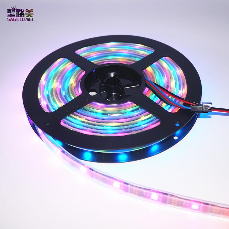 DC5V 5M WS2801 Addressable LED Strip Arduino development ambilight TV 32leds/m 5050 RGB 12mm led Magic Dream Color Rope Light(China (Mainland))