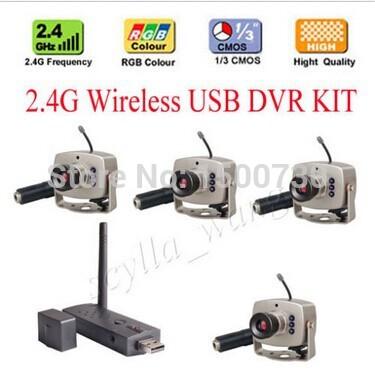 Wholesale !!!2.4G Wireless USB DVR KIT 2.4G Camera surveillance wireless security system(China (Mainland))
