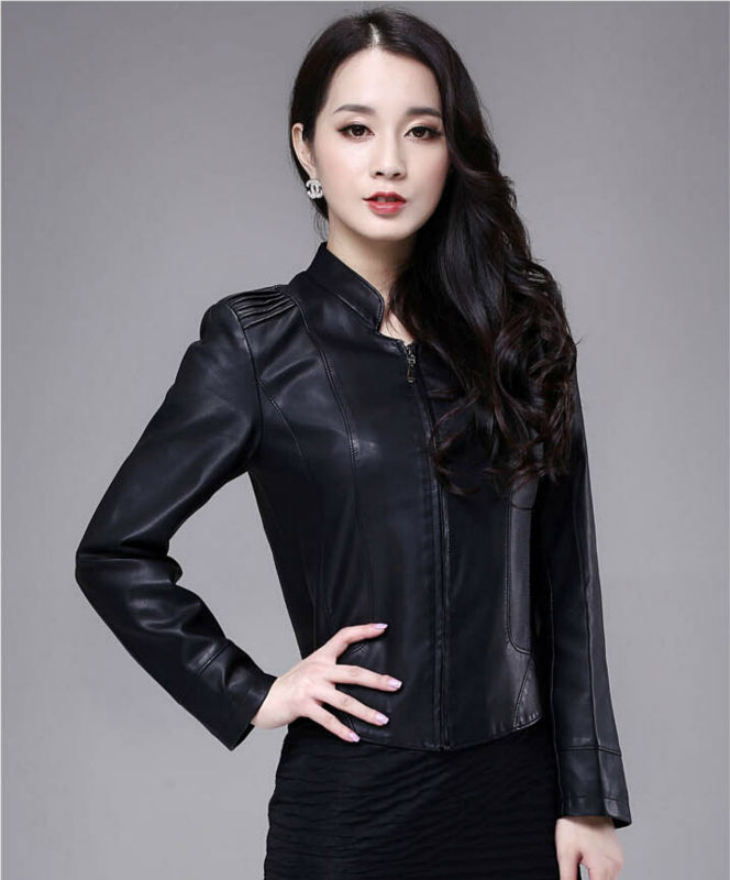 Free delivery for 2015 years the new leather collar, a short paragraph slim female sheep skin leather jacket coat M-Одежда и ак�е��уары<br><br><br>Aliexpress