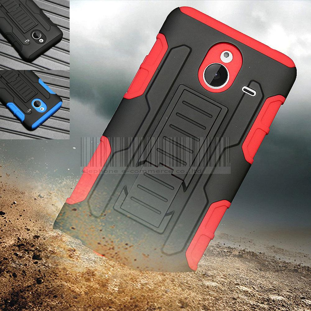 Black/Blue/Red Color For Microsoft For Lumia 640/640XL Rugged Shockproof Armor Holster Hard Stand Case Cover With Belt Clip(China (Mainland))