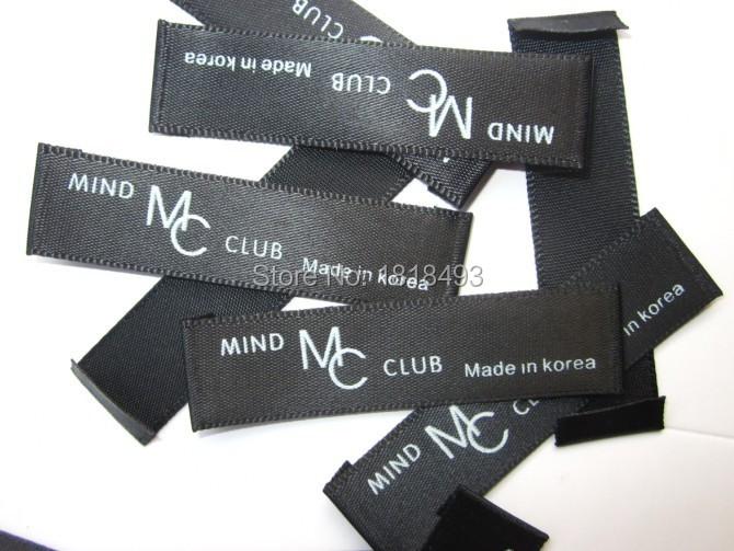 Livraison gratuite vêtements personnalisés sérigraphie étiquettes/étiquettes d'entretien des vêtements/vêtements principaux labels/d'or imprimé tags 2000 pcs un lot(China (Mainland))
