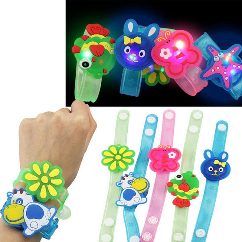 1pcs Hot Creative cartoon watch Boys girls flash wrist band glow luminous bracelets children's day/Birthday party gifts toys(China (Mainland))