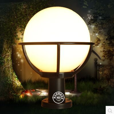 New arrival unique and novelty led wall lamps post ball waterproof outdoors  wall light hotel landscape lamp <br><br>Aliexpress