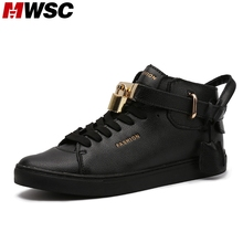 MWSC 2016 Casual Street Corner Hip-hop Key Locks Elastic Band Men Casual Shoes Fashion Popular Hot Sale Max Size 9.5(China (Mainland))