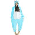 Fleece Anime Fairy Tail Happy Cat Onesie Children Cartoon Cosplay Costume women Pajamas adult Blue Happy