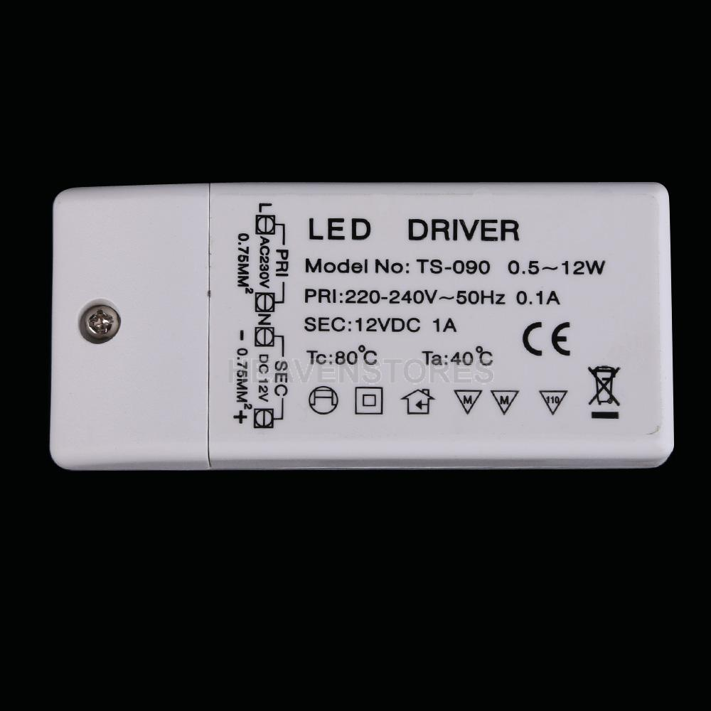 New 12W LED Driver Power Supply Transformer for LED Strip Lights DC 12V 1A hv3n(China (Mainland))