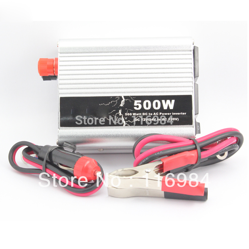 Free shipping!! Car inverter 500W DC12V to AC220V vehicle power supply switch on-board charger car inverter(China (Mainland))