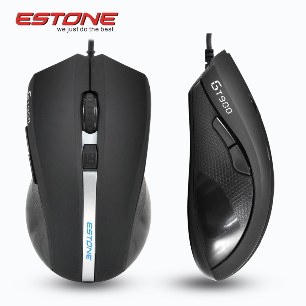Estone GT-900 Professional Mice 6 Buttons Gaming Mouse 2400DPI LED Optical USB Wired Computer Mouse Cable Mouse Gamer Peripheral(China (Mainland))