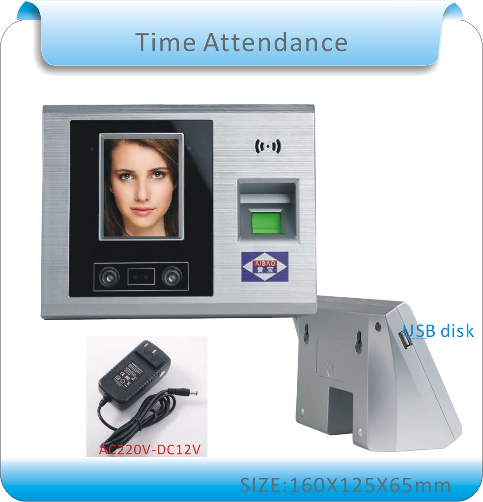 Free Shipping 2.8 TFT LCD Touch Screen Biometric Attendance Face Recognition Time Attendance Time Clock+fingerprint+passowrd<br><br>Aliexpress