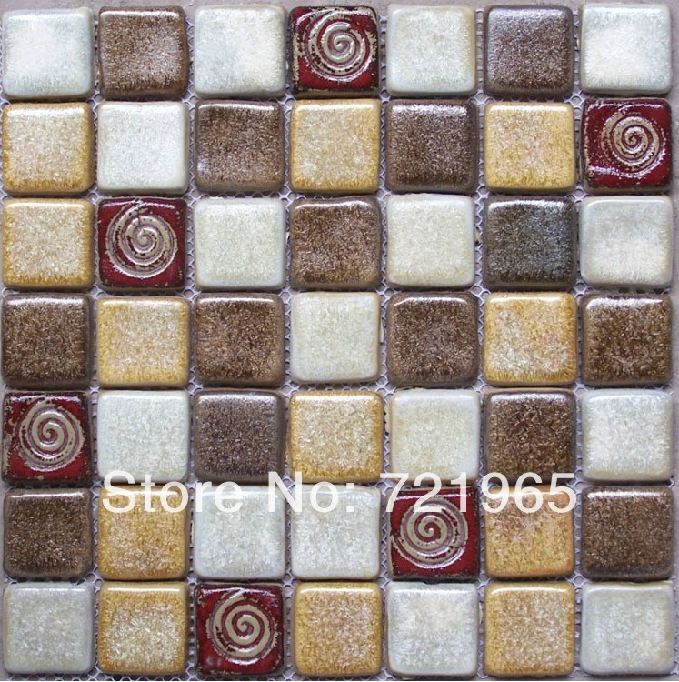 Mosaic ceramic tiles for crafts