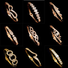 Buy ZOSHI 2017 Fashion Elegant Women Bangle Wristband Bracelet Crystal Cuff Bling Lady Gift Gold Color Charms Bracelets & Bangles for $1.02 in AliExpress store