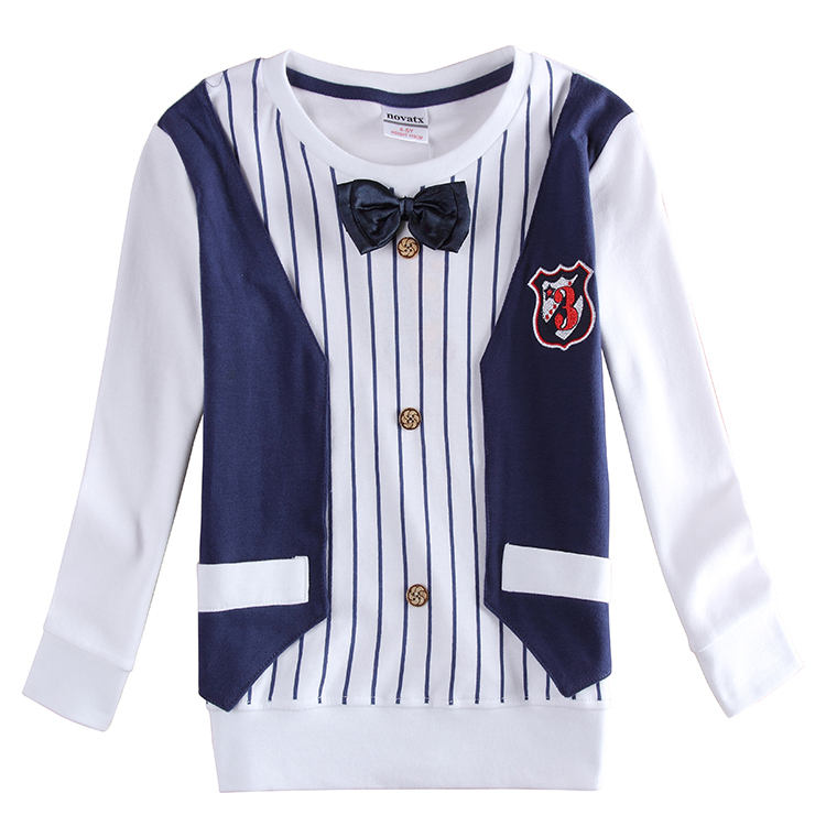 Nova kids fashion new designs long sleeves long sleeves  formal with fashion bow tie shirts for baby  boys <br><br>Aliexpress