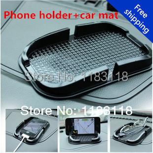 New 2014 Multi-functional Rubber Mobile Phone Shelf car Anti Slip pad antiskid mat For ford focus 2/skoda octavia phone holder(China (Mainland))