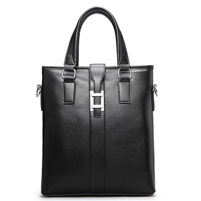 Top PU Leather Men's Shoulder Leisure Handbag Zipper Bags Casual Soft Business High Quality Messenger Briefcase