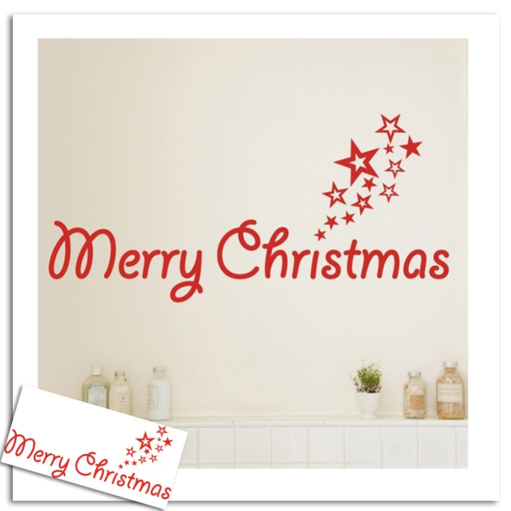 Christmas Art Wall Decal Living Room Kids Home Decoration Accessories Removable Wall Sticker Design China Supply(China (Mainland))