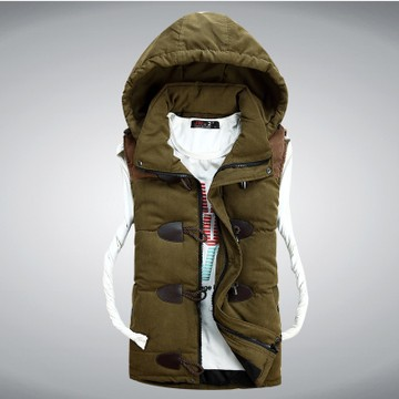 Free shipping 2014 winter new Korean Slim down cotton vest fashion casual comfortable wave of men vest four color size M to XXXL(China (Mainland))
