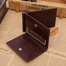 Excellent Quality Top Brand Leather Men Wallet Short Wallets Purses Synthetic Leather Money Clips Sollid Thin Wallet For Men(China (Mainland))