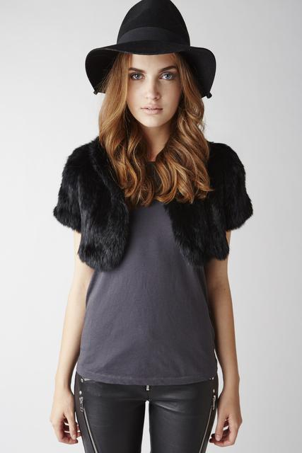 FC01101 Осенью и зимой женщины 100% реального кролика трикотажные плечами завод продает
