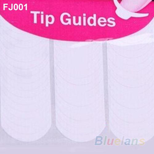 New 2Pcs Chic DIY 18 Style French Manicure Nail Art Tips Tape Sticker Guide Stencil 2MNU 2NOY(China (Mainland))