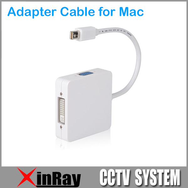 3 in 1 Mini Display Port Thunderbolt to DVI VGA HDMI TV AV HDTV Adapter cable for Mac Book iMac, Mac Book Air Mac Book Pro DX06(China (Mainland))