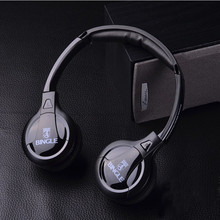 100% High quality Bingle B616  Computer tv earphone Multifunction Wireless Headset Headphone with FM Radio for PC TV Audio