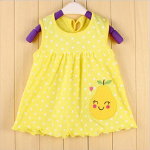 Summer Baby Girl Embroidery Floral And Cartoon Dress Children Casual Clothing Kids Infant Sleeveless Dresses