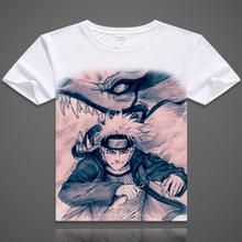 New Japanese anime Naruto T-shirt High quality Naruto short sleeve T shirt Kakashi itachi sasuke gaara Free shipping