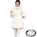 New Women Long down Jacket Zipper Long Solid Skirt Full Sleeve Temperament Winter Coat Warm Good