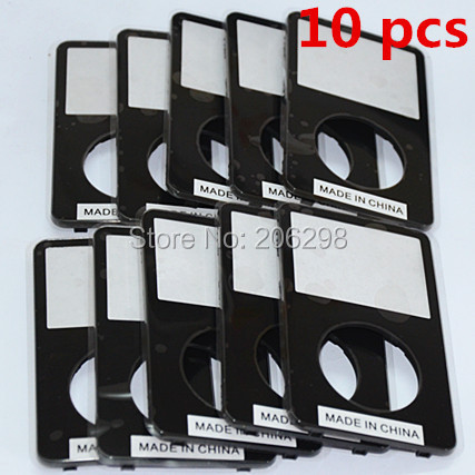 10PCS Free Shipping Original Faceplate Front Cover Panel Housing for iPod Video 5th 5Gen 5.5th 30GB 60GB 80GB Replacement Black(China (Mainland))
