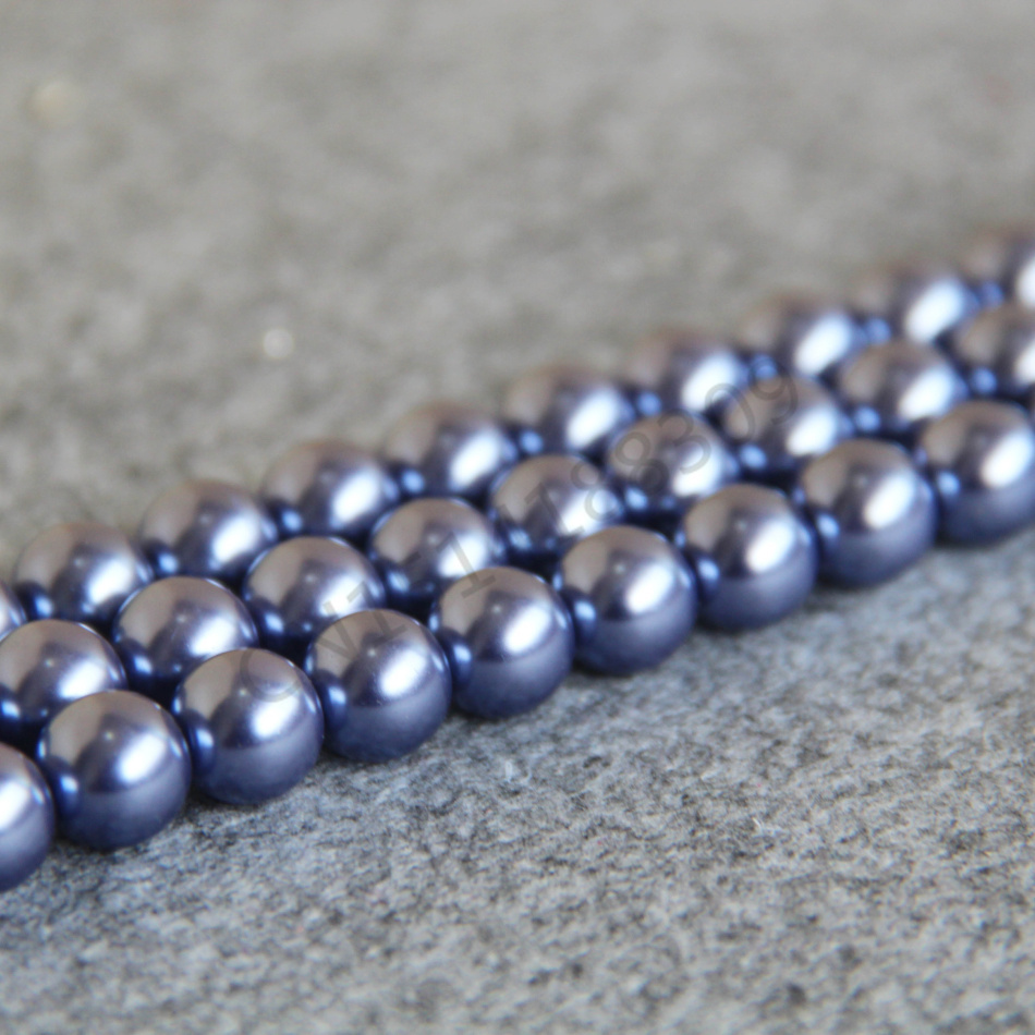 Necklace&Bracelet 10mm Light Purple Shell pearl beads Seashell DIY gift girl loose beads Jewelry making design 15inch Wholesale(China (Mainland))