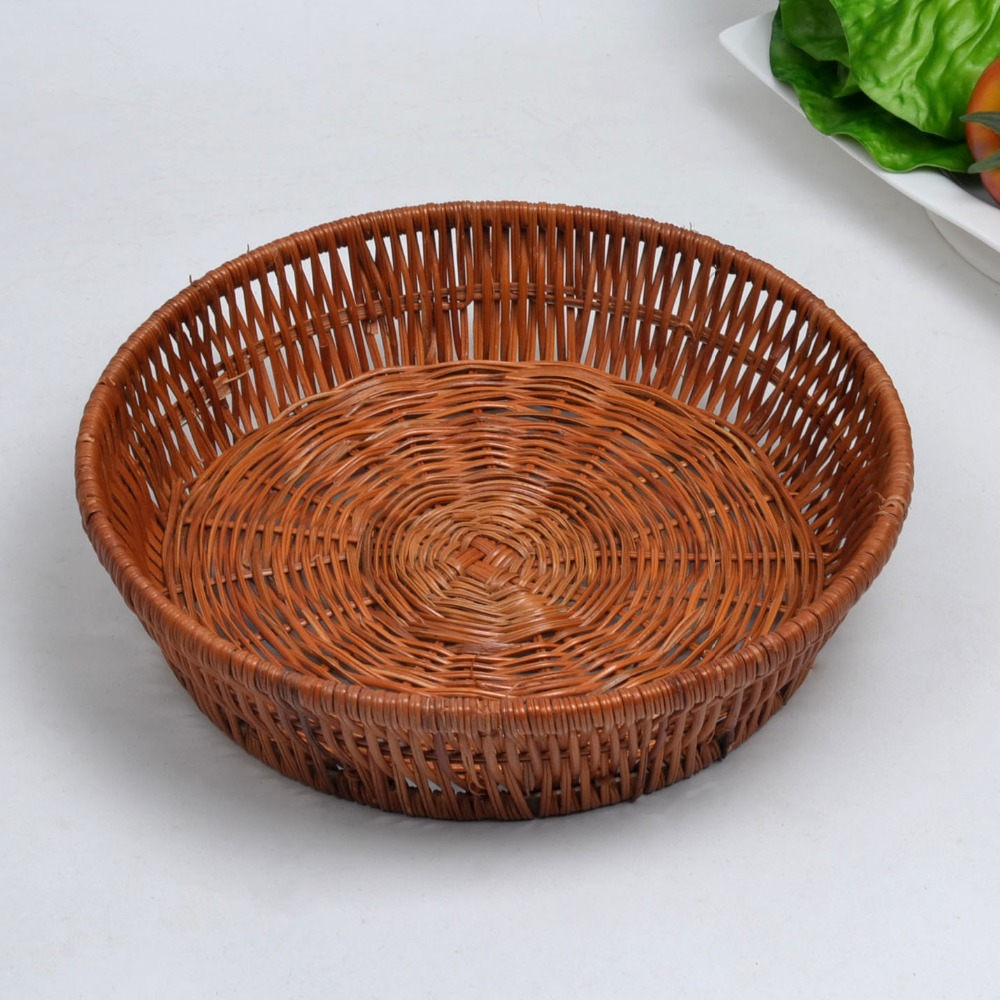 Moving Box Hand Made Wickerwork Basket Fruit Storage Kitchen Utensils for Fake or Artificial Bread Vegetable Home Decor(China (Mainland))