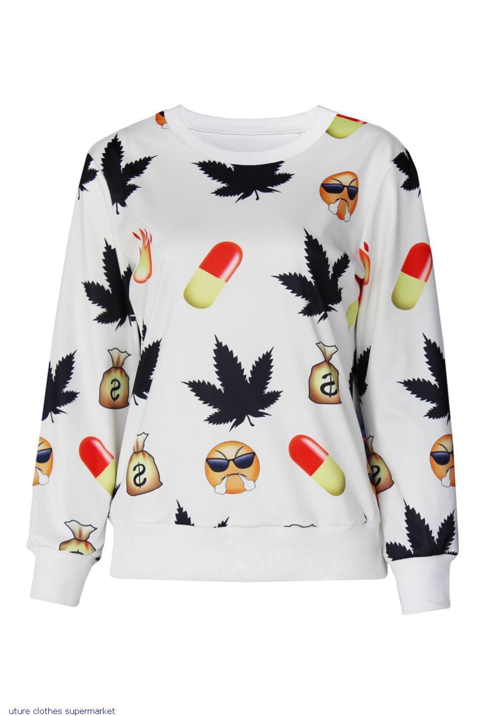 New Printed Sweatshirt Hoodies Emoji Women Pullover Women In Emoji Print Jogging Sweatshirt LC25351 Casual Suit Track SuitsОдежда и ак�е��уары<br><br><br>Aliexpress