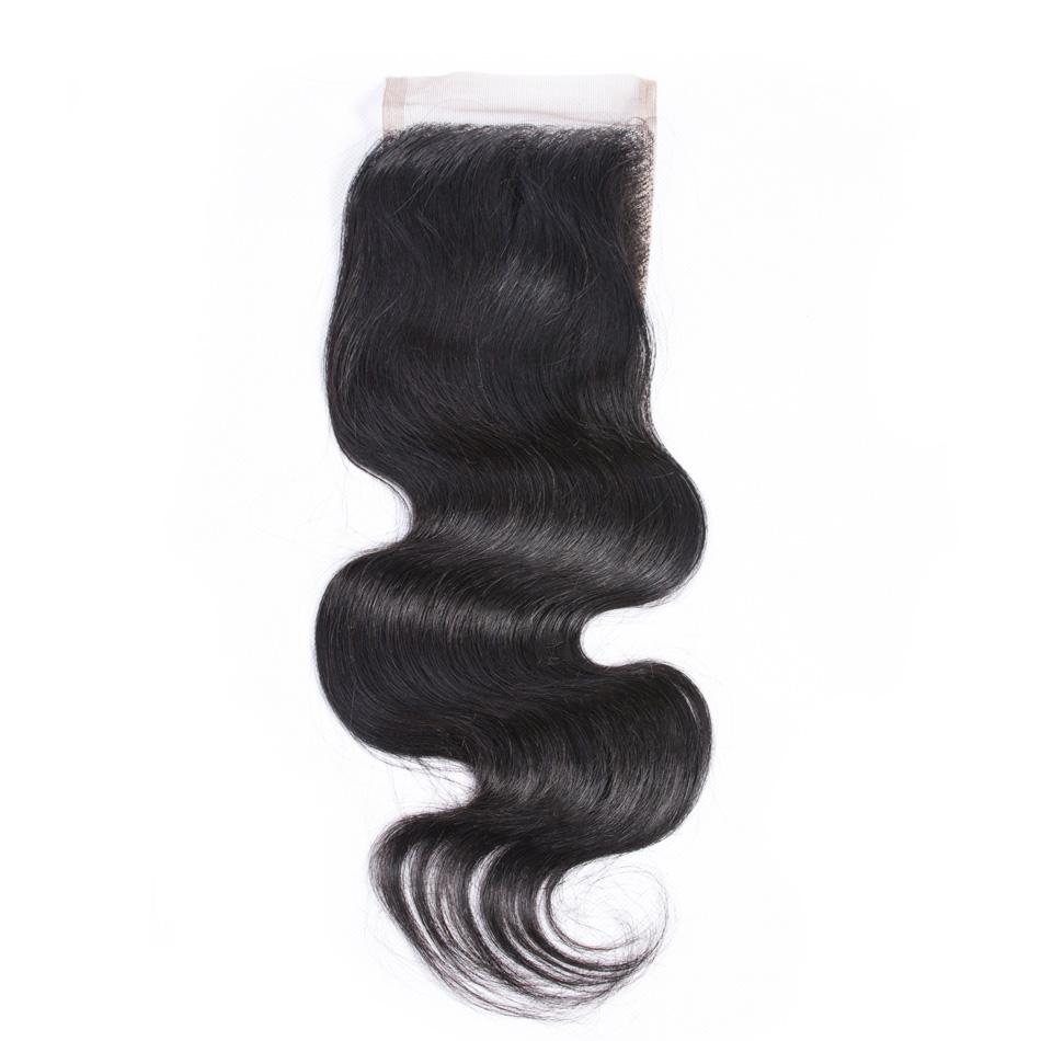 Iwish Hair Peruvian Body Wave Hair Lace Closure 100% Human Remy Hair Closure Free Part 4×4 inch 130% Density Free Shipping