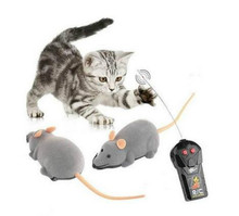 Novità divertente rc wireless 3 colors telecomando ratto topo giocattolo gatto domestico del cane(China (Mainland))