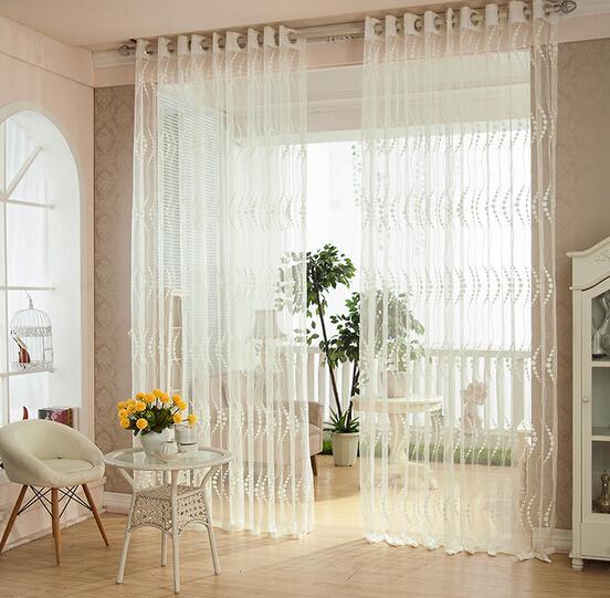 Здесь можно купить  Living Room Curtains Drapes White Lace Curtain Window Screening Decorative Room Beaded Cortinas Home Textile  Дом и Сад