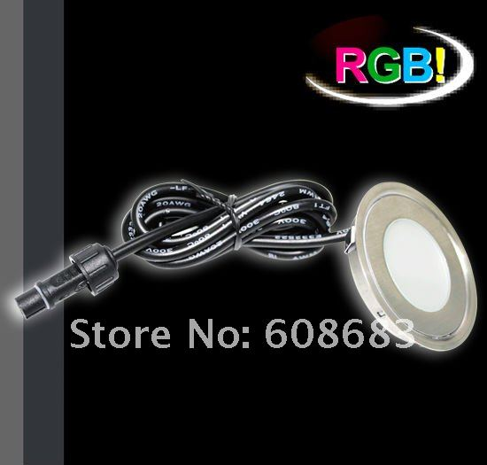 Outdoor Colour Changing LED Deck Light Kits: 20pcs 0.7W Lights+4pcs connection cable+1pc 30W Driver+1pc Controller All Included(China (Mainland))