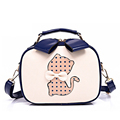 Sweet Style Bowknot Cat Box type Bag Fashion Ladies Handbag Stylish Small Bag Korean Style Women