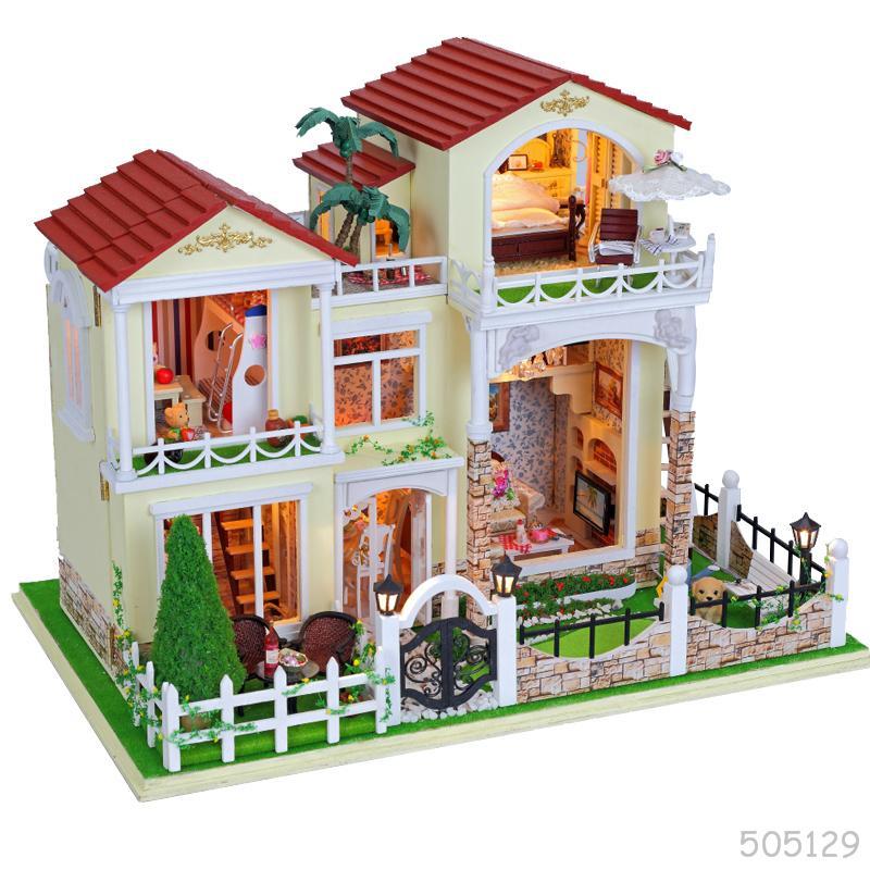 Montaje de bricolaje de madera modelo de casa de mu ecas - Bricolaje para casa ...