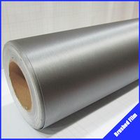 Free-shipping!! CDBS002 1.52X0.3m brushed aluminum vinyl carbon film for sticker car wrap