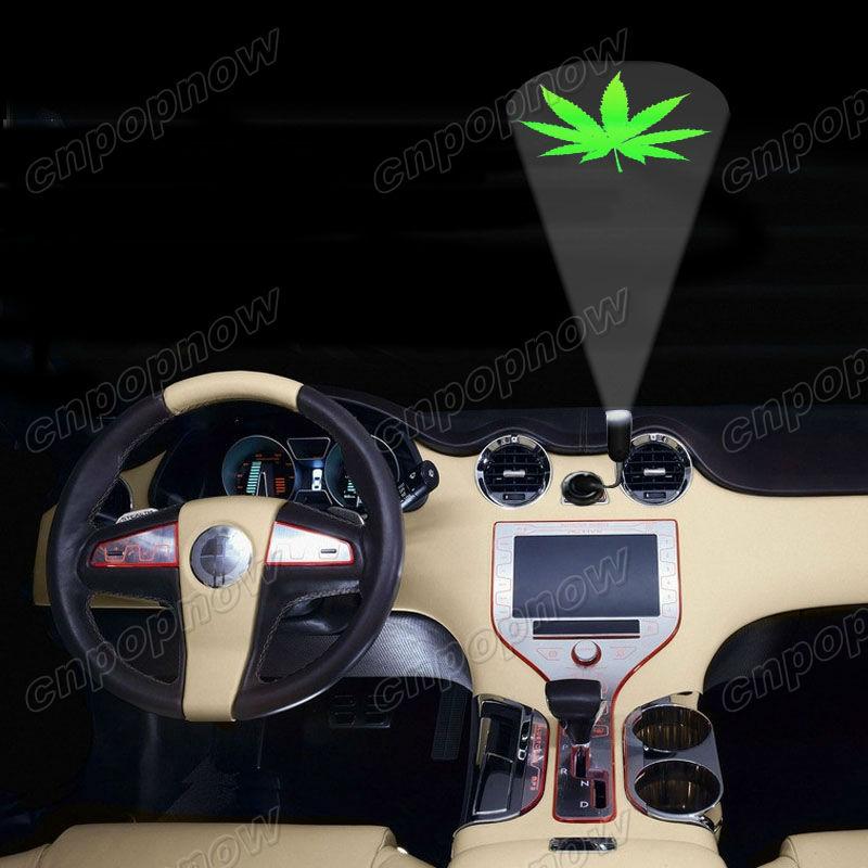Vegetarian Tree Green Leaf USB Port Car Roof Ghost Shadow Projector Logo Lamp #2555(China (Mainland))