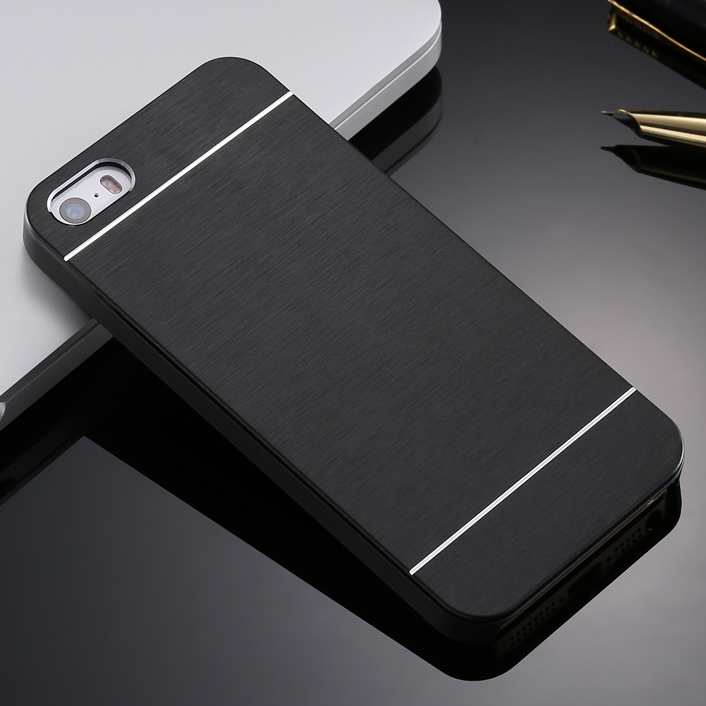 4 4s Deluxe Aluminum Metal Brush Case For iphone 4 4S Mobile Phone Back Cover Motomo Logo For Iphone4 YXF03883(China (Mainland))