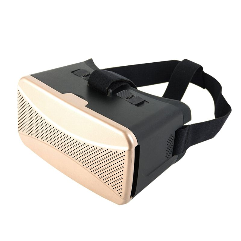 GYD VR 3D Glasses Google Cardboard Virtual Reality 3D Glasses Update for iPhone 6 plus 4-5.7 Smartphone Gold as Christmas GIFT<br>