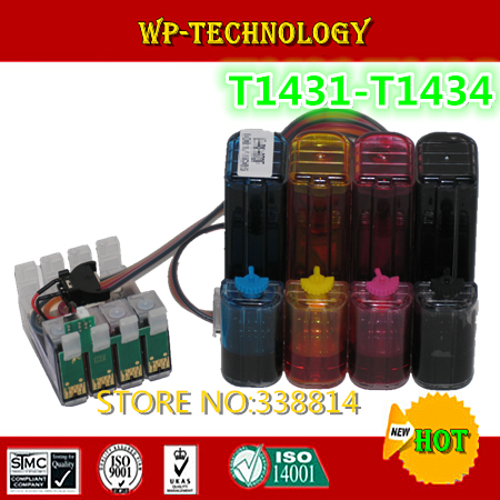 [Full ink ] CISS suit for T1431 T1432 T1433 T1434 ,suit for  Epson ME Office 960FWD ,me office 900WD ,With auto reset chips .