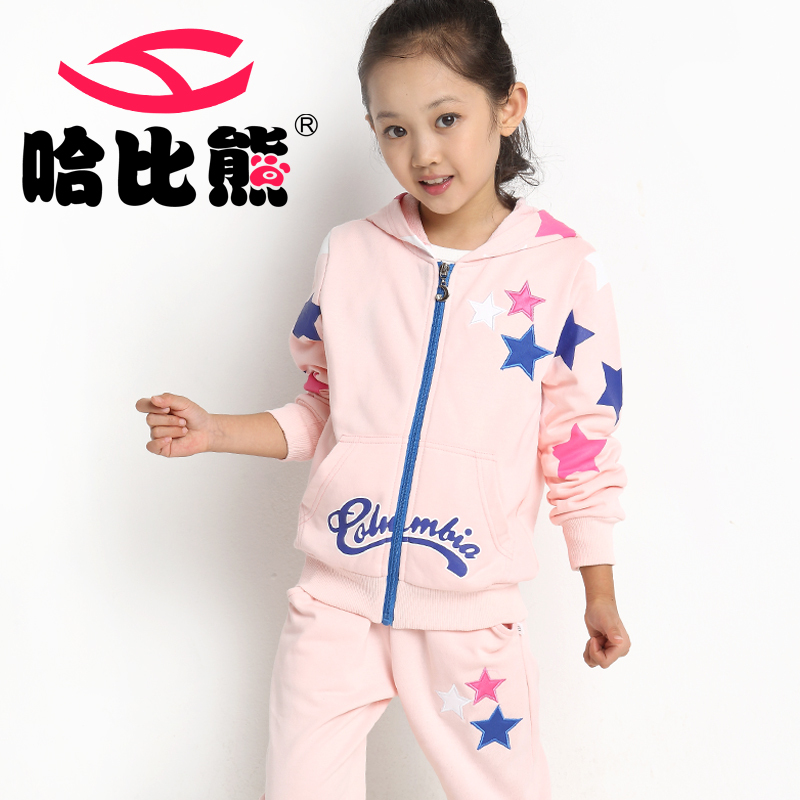Hobibear child sets cotton blended fabric girl clothing for Kids apparel fabric