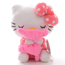 "Hot Sale Friend's Gifts Pink Hello Kitty Hold Pillow Plush Ainime Dolls Toys 8"" New Free Shipping #LNF"