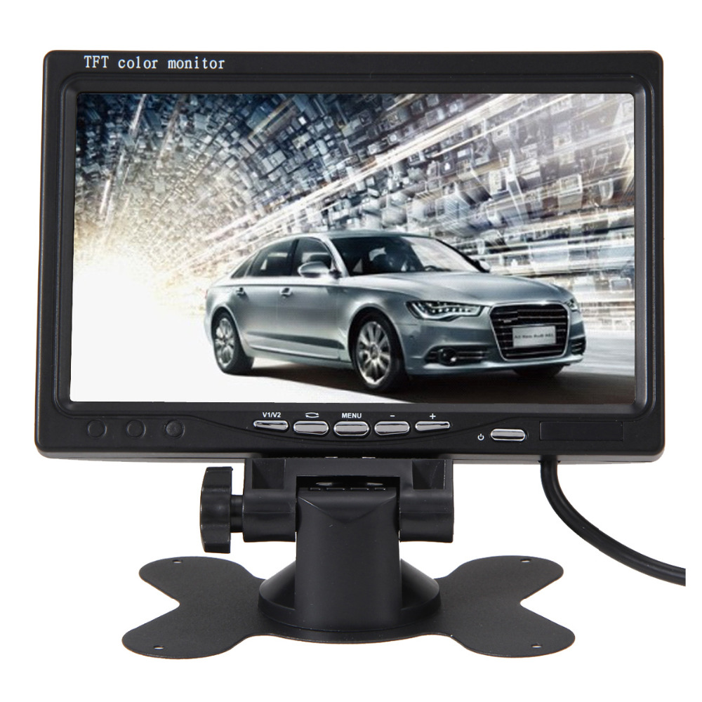 7 Inch Color TFT LCD Display 800 x 400 DC 24V Car Rear View Headrest Monitor For DVD Reversing Camera Remote Controller(China (Mainland))