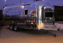 SLUNG Catering Trailer Stainless steel food truck Mechanical brake configuration(China (Mainland))