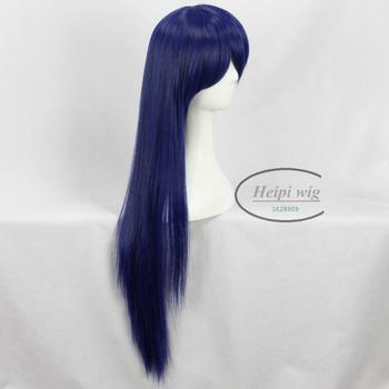 [Love Live] Sonoda Umi Blue Straight Long Cosplay Wig + WIg Cap